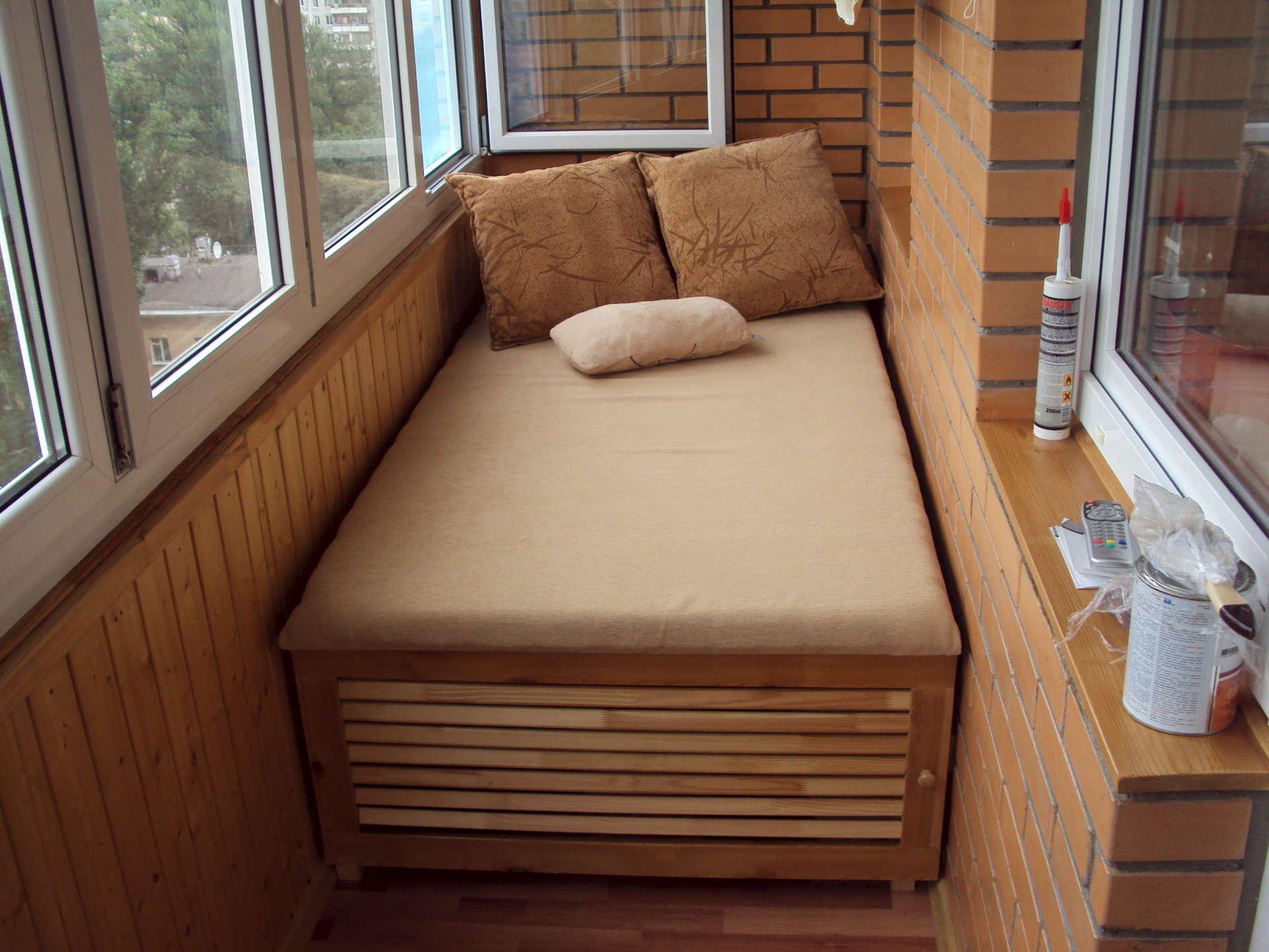 Сиденье для балкона своими руками фото